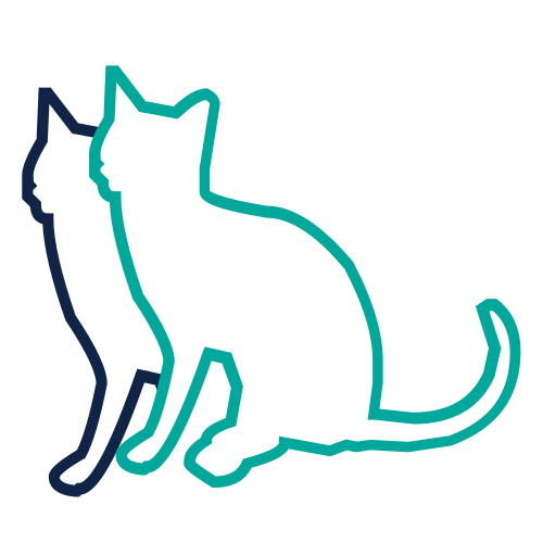 Purple and Green Double Cat Logo