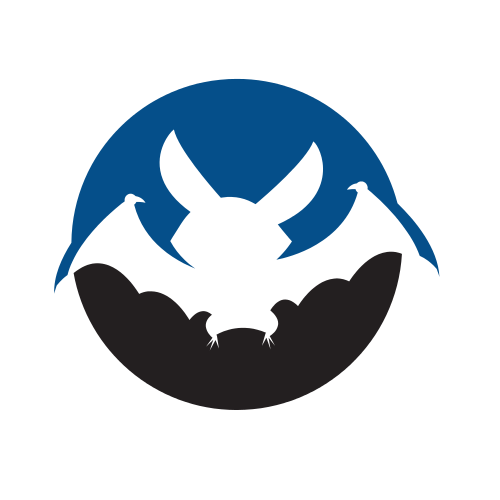 Bat Animal Circle  Logo