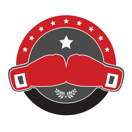 boxing, boxing gloves, circle, red, gray, star