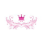 Pink Crown Feathers Logo Design