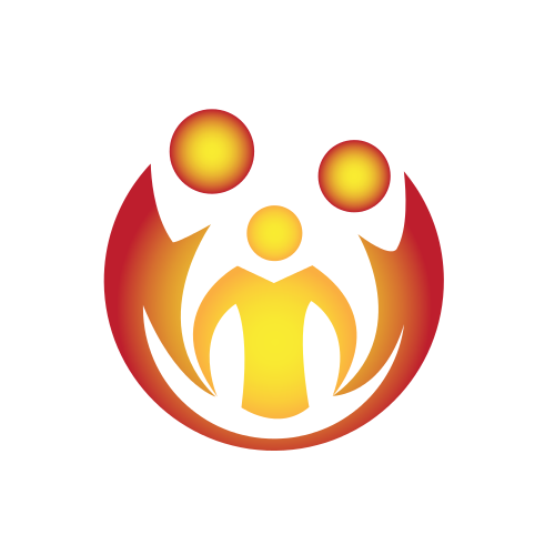 Holding Hands Circle Logo