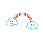 Children Clouds Rainbow