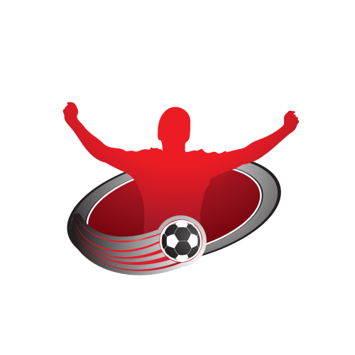 Soccer Player Ball Logo