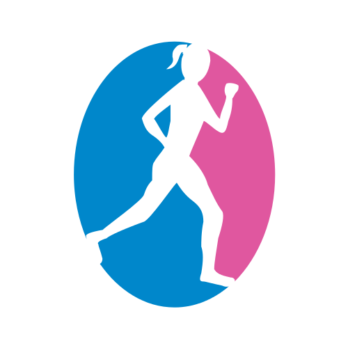 Female Running Sports  Logo