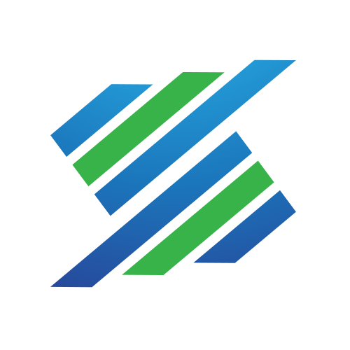 Green and Blue Tracks Logo