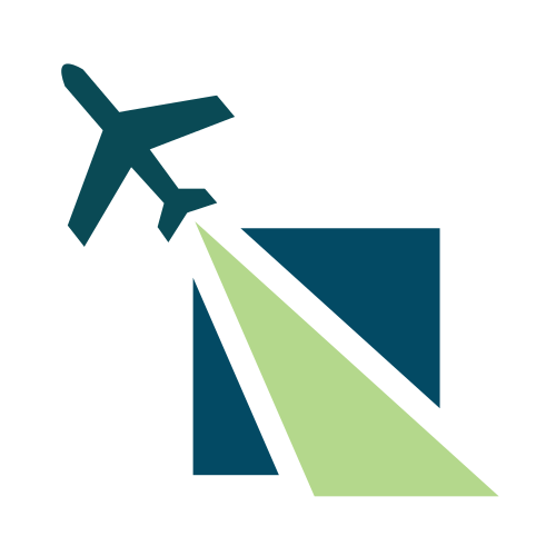 Travel Transportation Runway  Logo