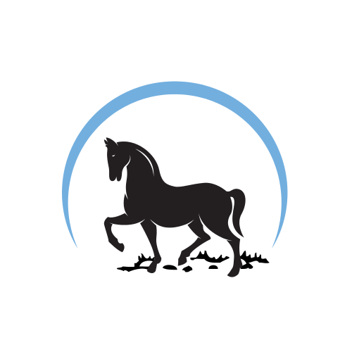 Horse and Blue Sky Logo Logo