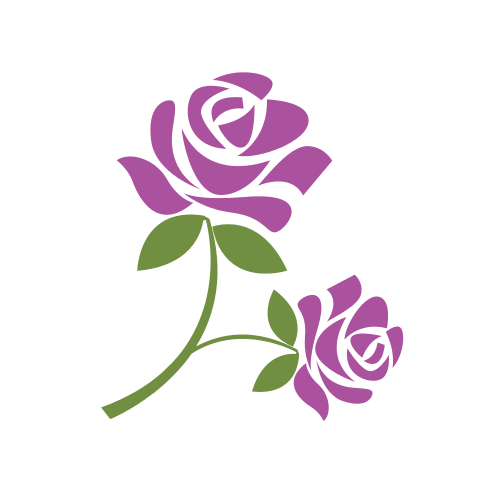 Beautiful Purple Flower Logo