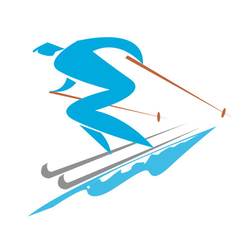 Fast Skiing Sports  Logo