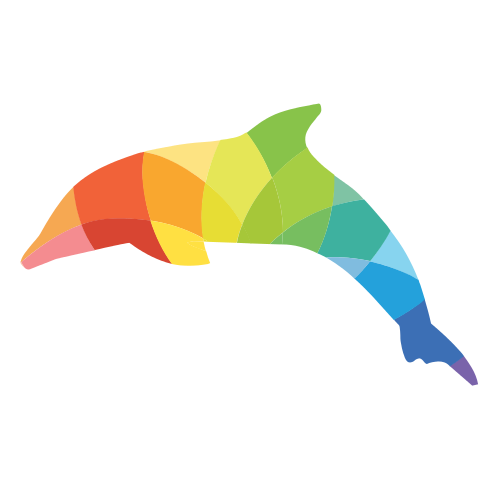 Dolphin Colorful Pattern Logo