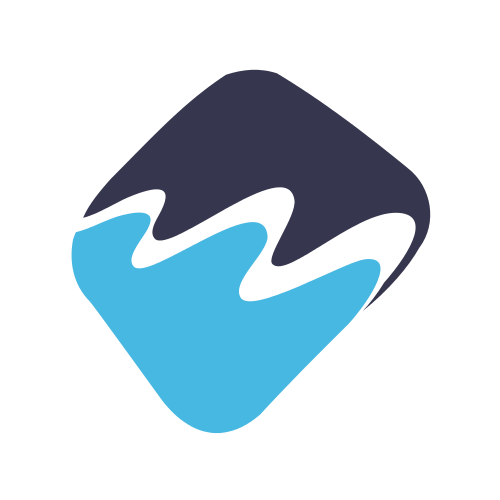 Business River Shape  Logo
