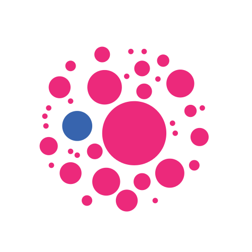 Pink Floral Planets Logo