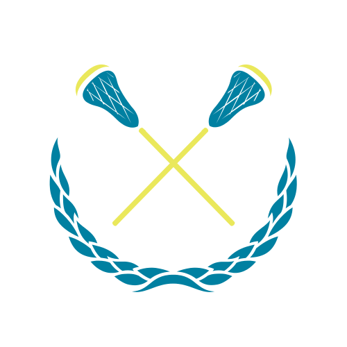 lacrosse, lacrosse sticks, wreath, blue, yellow,