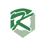 Green Letter K Shield