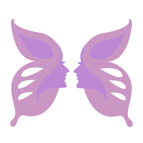 Female Spa Butterfly  Logo