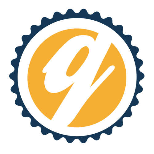 Yellow Letter Q Circle  Logo