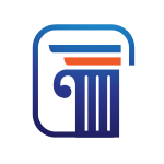 Blue Pillar and Column Logo
