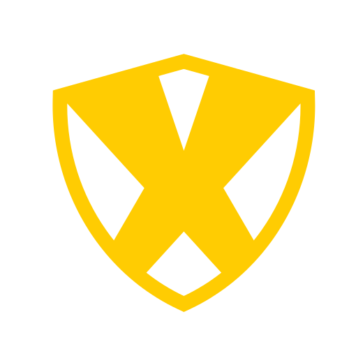 Letter X Shield