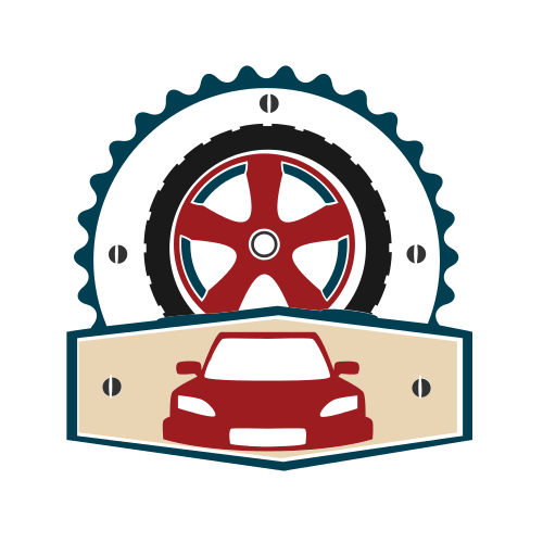 Car Wheel Mechanic  Logo