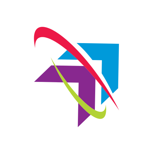 Blue and Purple Arrows Logo
