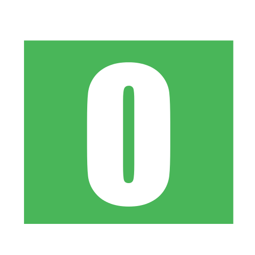 Green Letter O Square