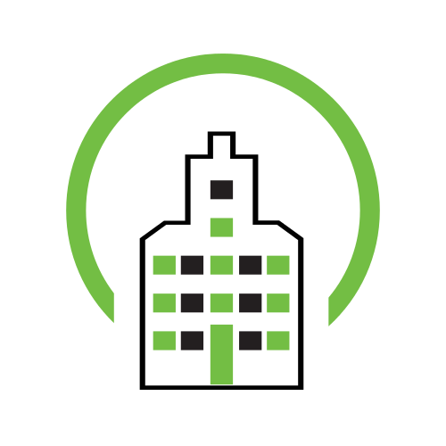 Office Real Estate Green  Logo