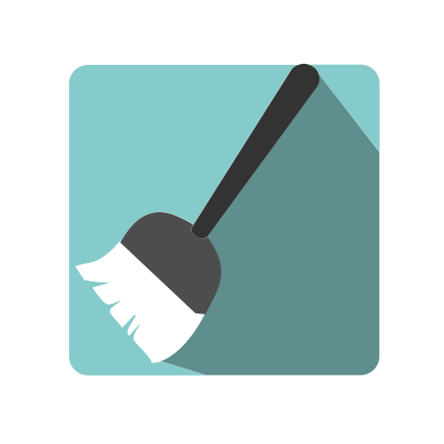 White Cleaning Broom