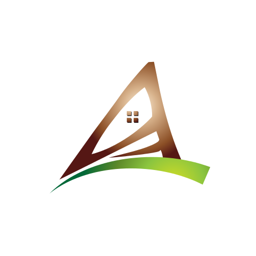 Italic Letter A House Logo